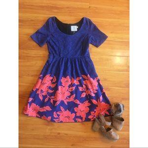 Anthropologie Floral Geometric Dress